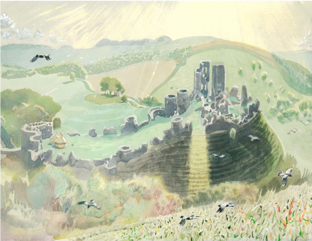 High-sun,-Corfe-Castle